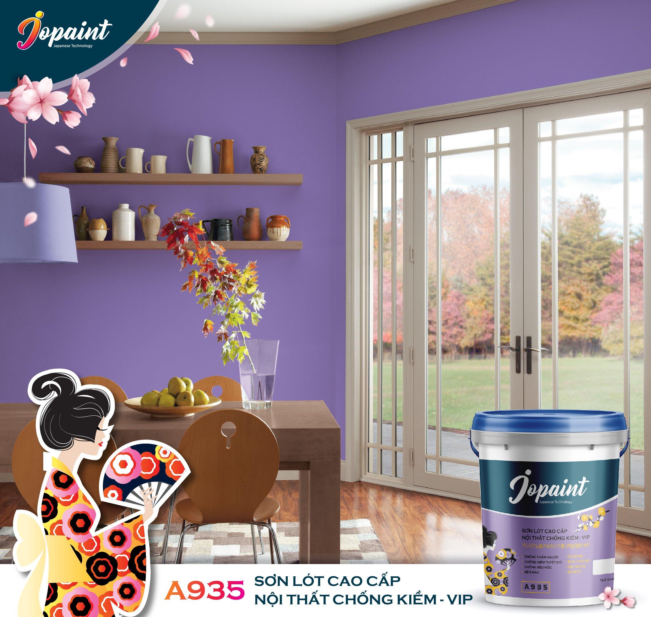 Căn nhà màu tím sơn Jopaint