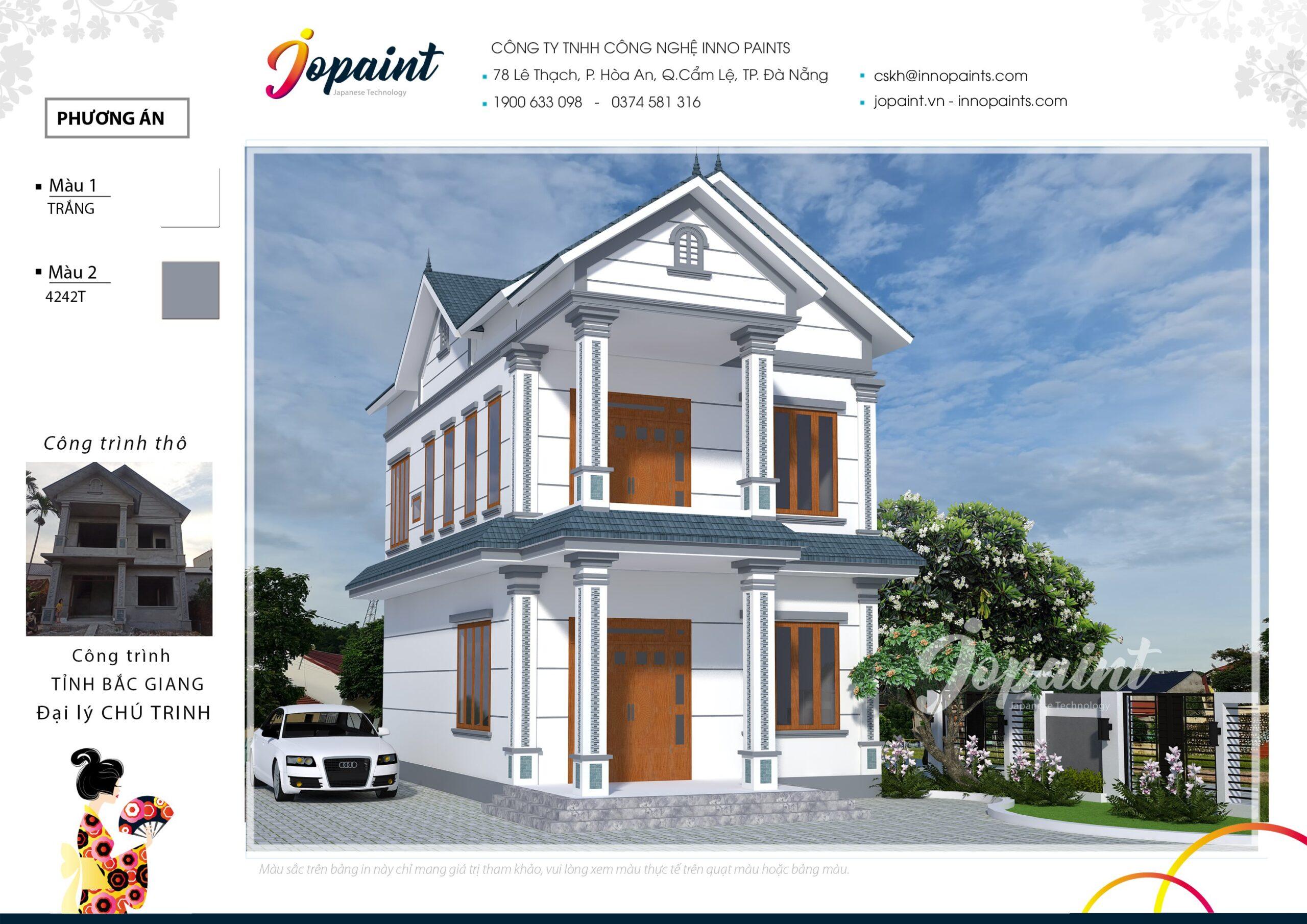 Nhà 2 tầng sơn Jopaint - Bắc Giang